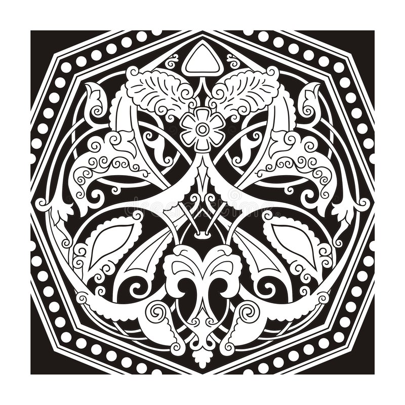 Vetor oriental do ornamento ilustração stock