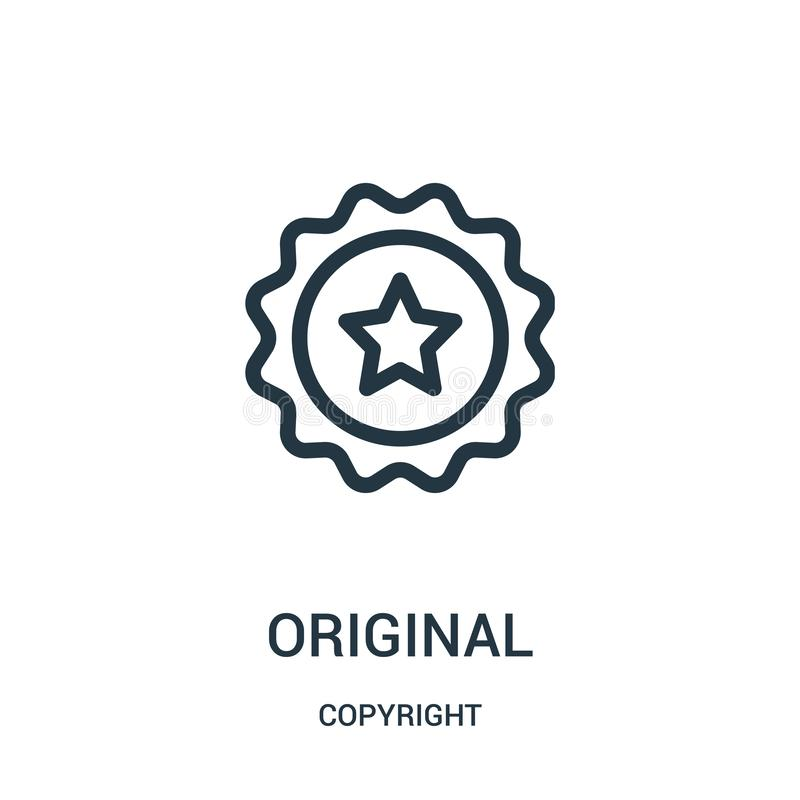 vetor original do ícone da coleção dos direitos reservados Linha fina ilustração do vetor do ícone do esboço do original ilustração royalty free