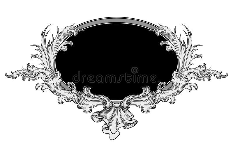 Vetor ornamentado do frame ilustração royalty free
