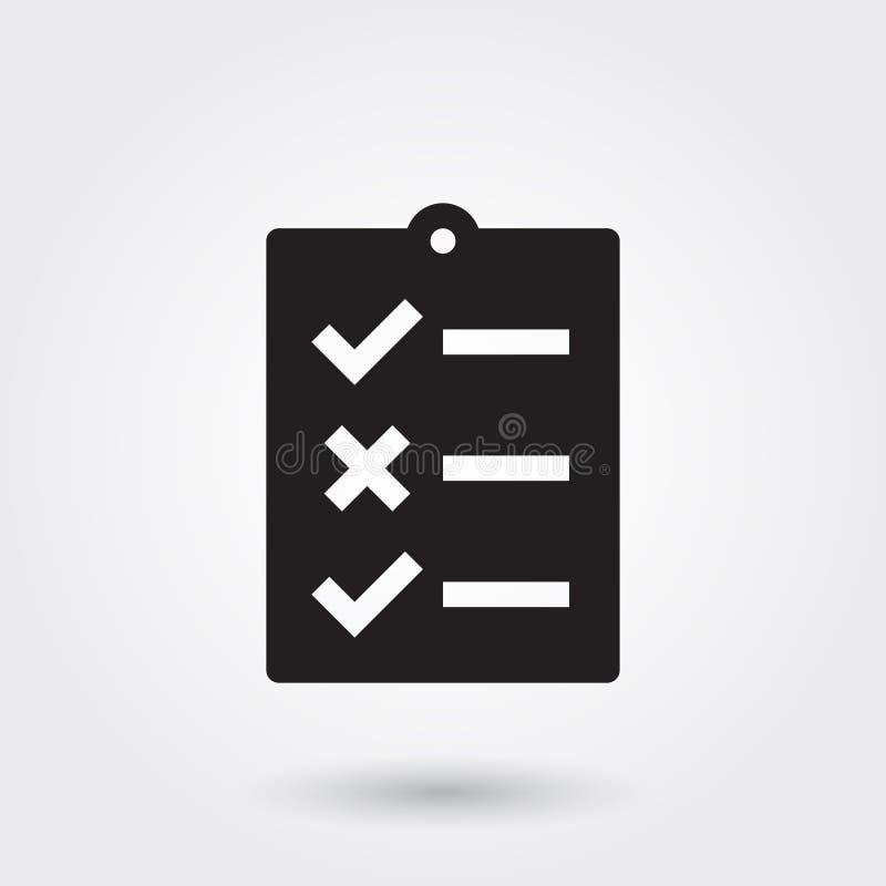 Vetor, para fazer a lista, ícone do Glyph perfeito para o Web site, apps móveis, apresentação ilustração stock