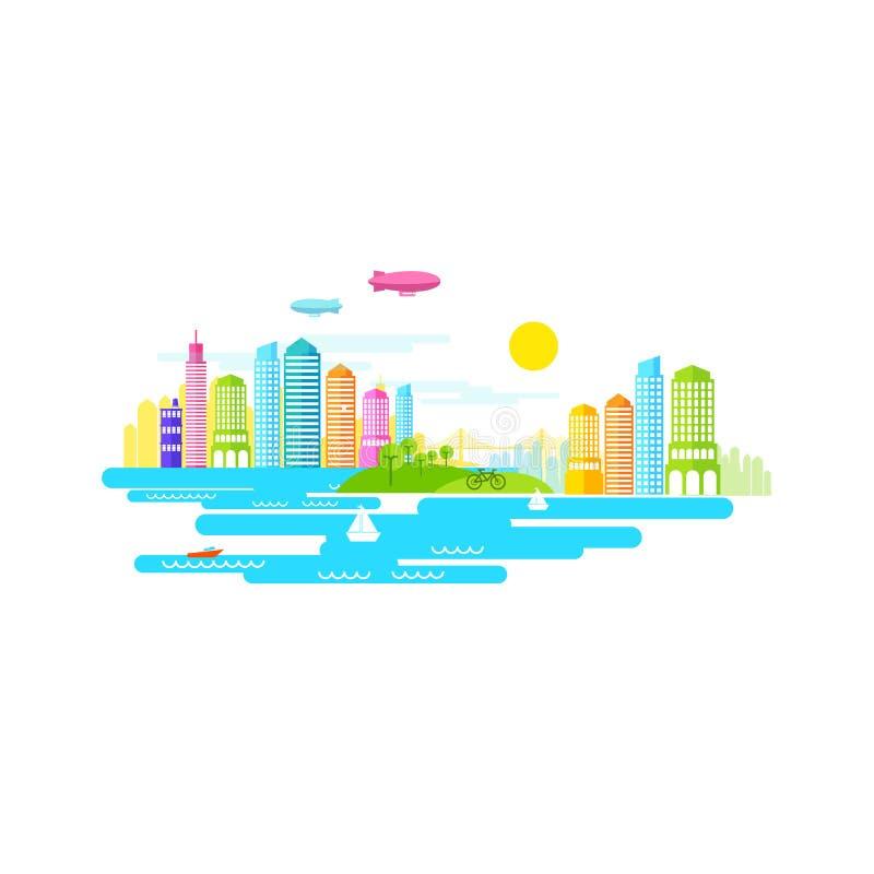 Vetor pequeno da cidade ilustração do vetor