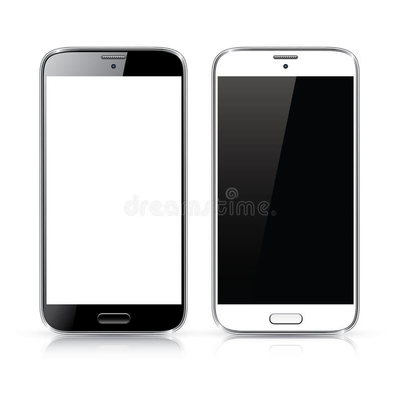 Vetor perfeitamente detalhado do smartphone novo moderno ilustração stock