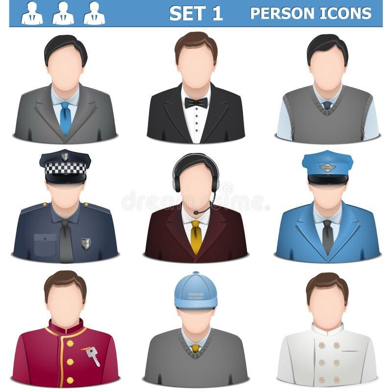 Vetor Person Icons Set 1 ilustração do vetor