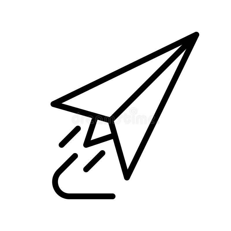 Vetor Plano de Papel, ícone Voltar ao estilo da linha escolar