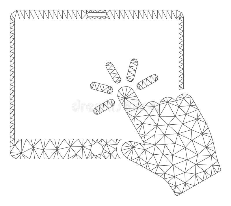 Vetor poligonal Mesh Illustration do quadro da tabuleta m?vel do clique ilustração stock
