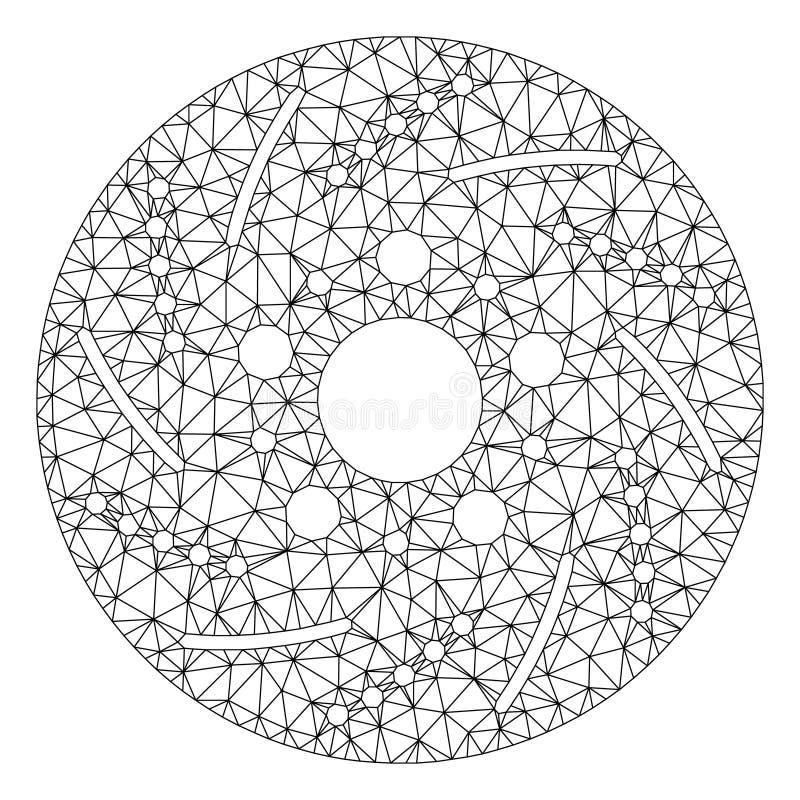 Vetor poligonal Mesh Illustration do quadro do disco de freio ilustração do vetor