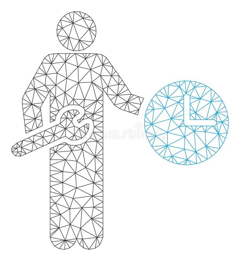 Vetor poligonal Mesh Illustration do quadro do recruta do pulso de disparo ilustração royalty free