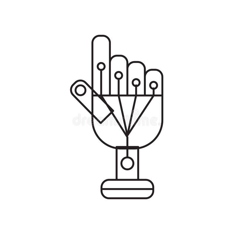 Vetor prendido do ícone das luvas isolado no fundo branco, glo prendido ilustração stock