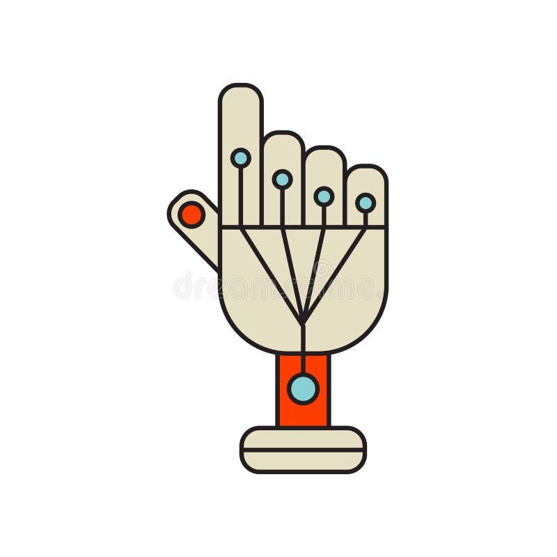 Vetor prendido do ícone das luvas isolado no fundo branco, glo prendido ilustração do vetor