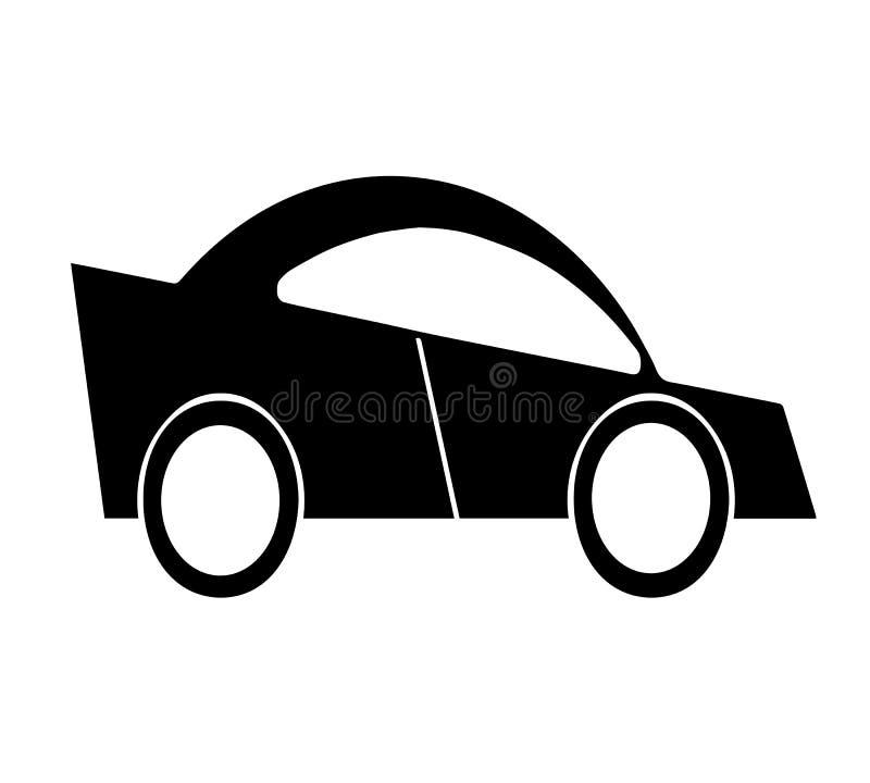 Vetor preto do carro da silhueta ilustração royalty free