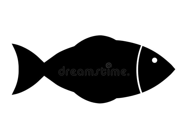 Vetor preto dos peixes da silhueta ilustração stock