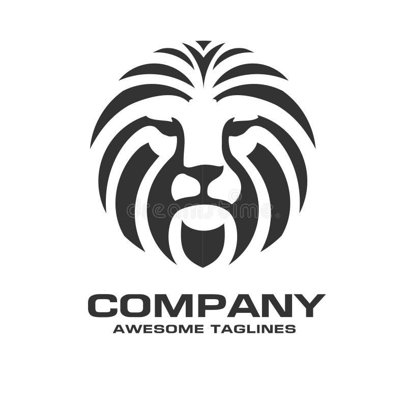 Vetor principal do logotipo do leão ilustração do vetor