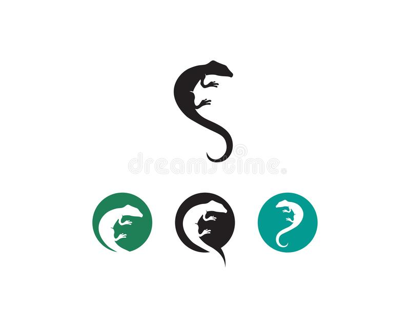 Vetor, projeto, animal, e réptil do lagarto, geco ilustração stock