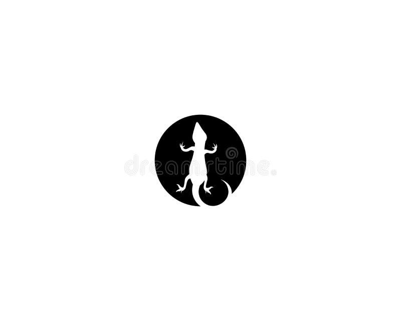 Vetor, projeto, animal, e réptil do lagarto, geco ilustração royalty free