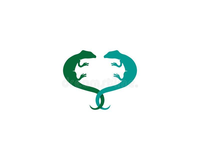Vetor, projeto, animal, e réptil do lagarto, geco ilustração do vetor
