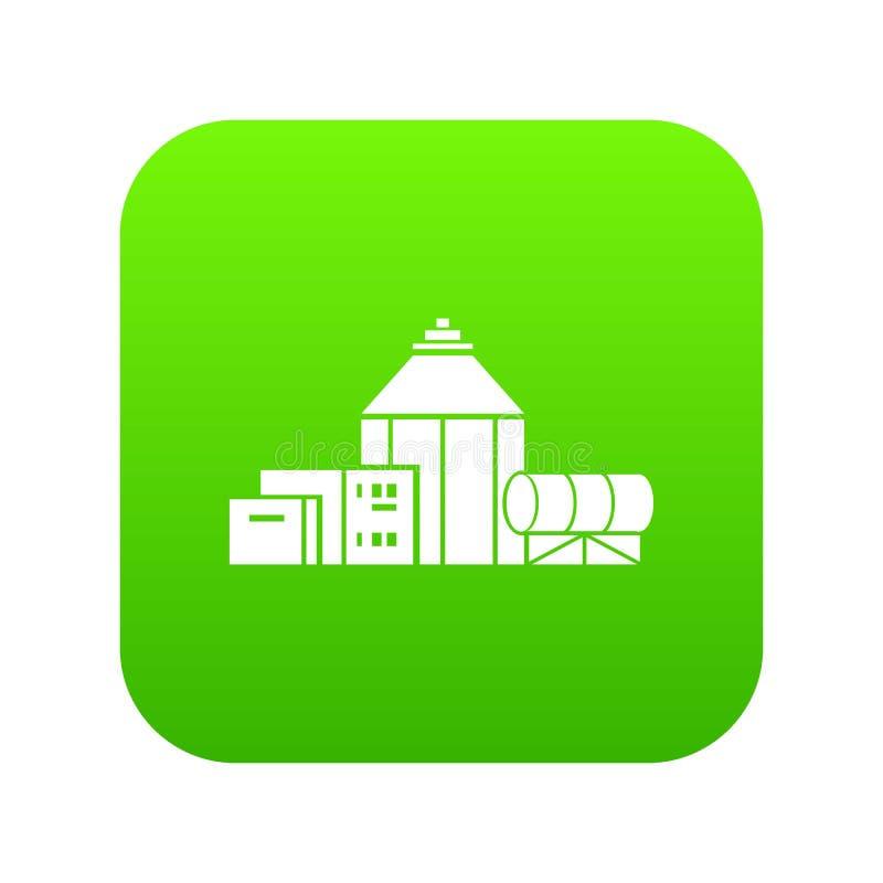 Vetor químico do verde do ícone do hangar ilustração royalty free