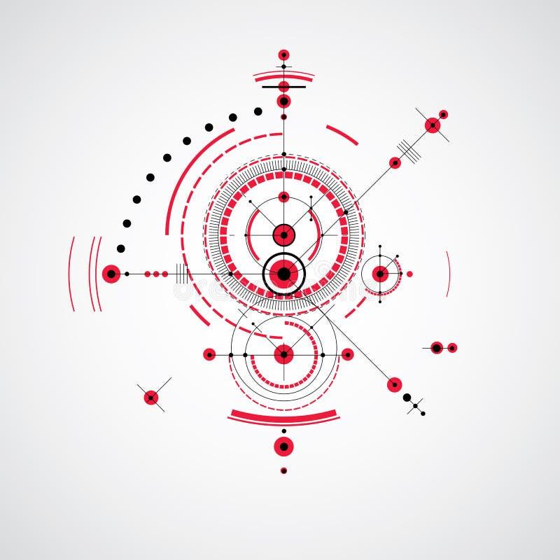 Vetor que projeta o fundo tecnologico, technica futurista ilustração stock