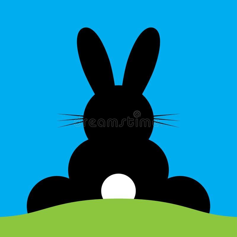 Vetor que senta o coelhinho da Páscoa traseiro ilustração do vetor