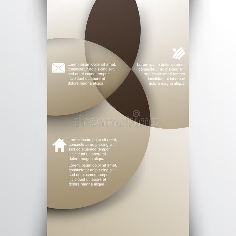 Vetor que sobrepõe o fundo geométrico do infographics das formas ilustração stock