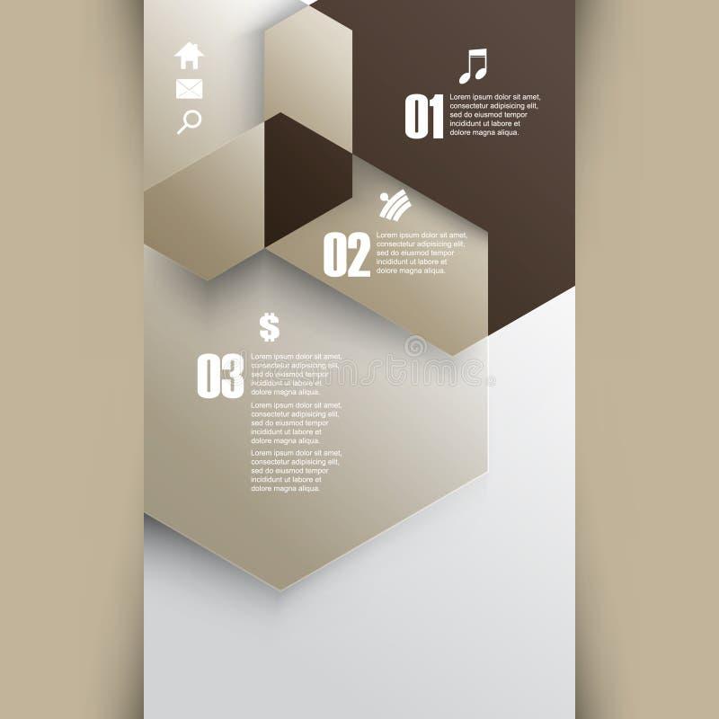 Vetor que sobrepõe o fundo geométrico do infographics das formas ilustração do vetor