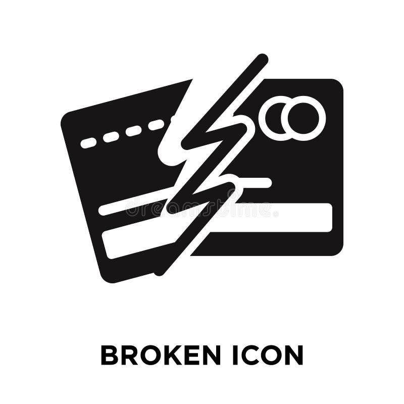 Vetor quebrado do ícone isolado no fundo branco, conceito do logotipo de ilustração stock