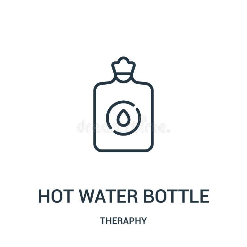 vetor quente do ícone da garrafa de água da coleção do theraphy Linha fina ilustra??o quente do vetor do ?cone do esbo?o da garra ilustração stock