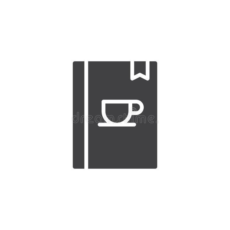 Vetor quente do ícone do livro do menu das bebidas ilustração stock