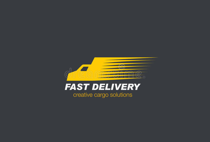 Vetor rápido de Logo Cargo do carro de entrega ilustração stock