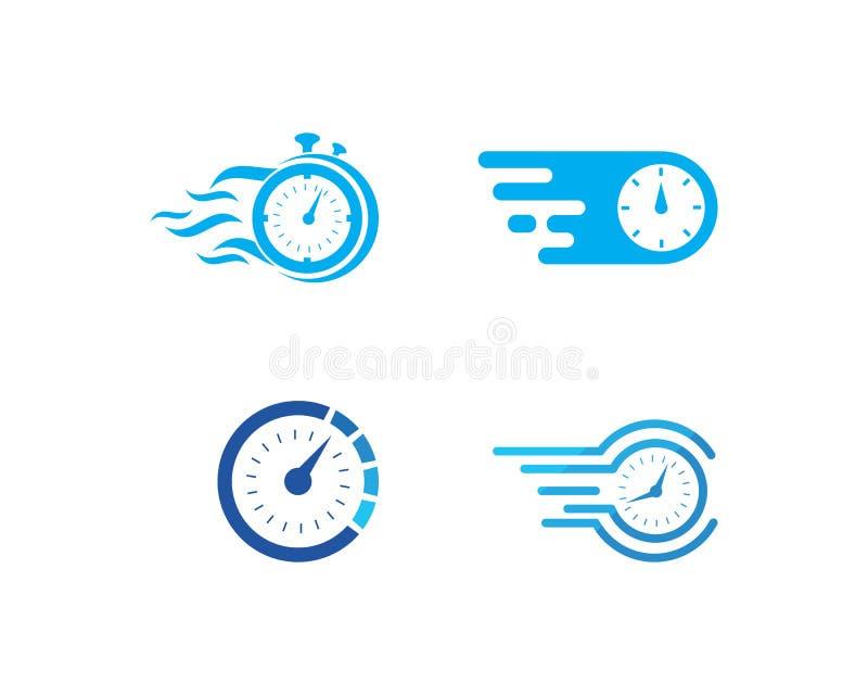 Vetor rápido do logotipo do tempo fotos de stock