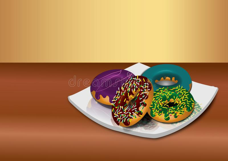 Vetor realístico do alimento imagens de stock royalty free