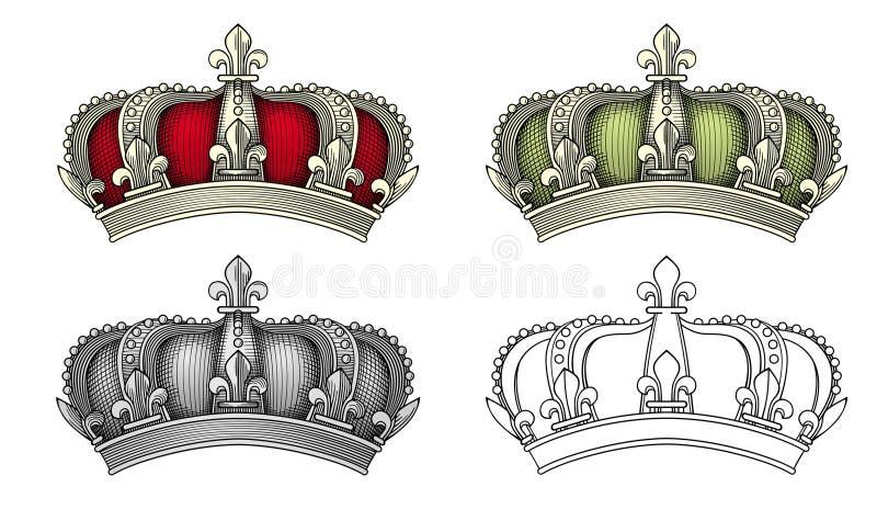 Vetor real da coroa ilustração stock