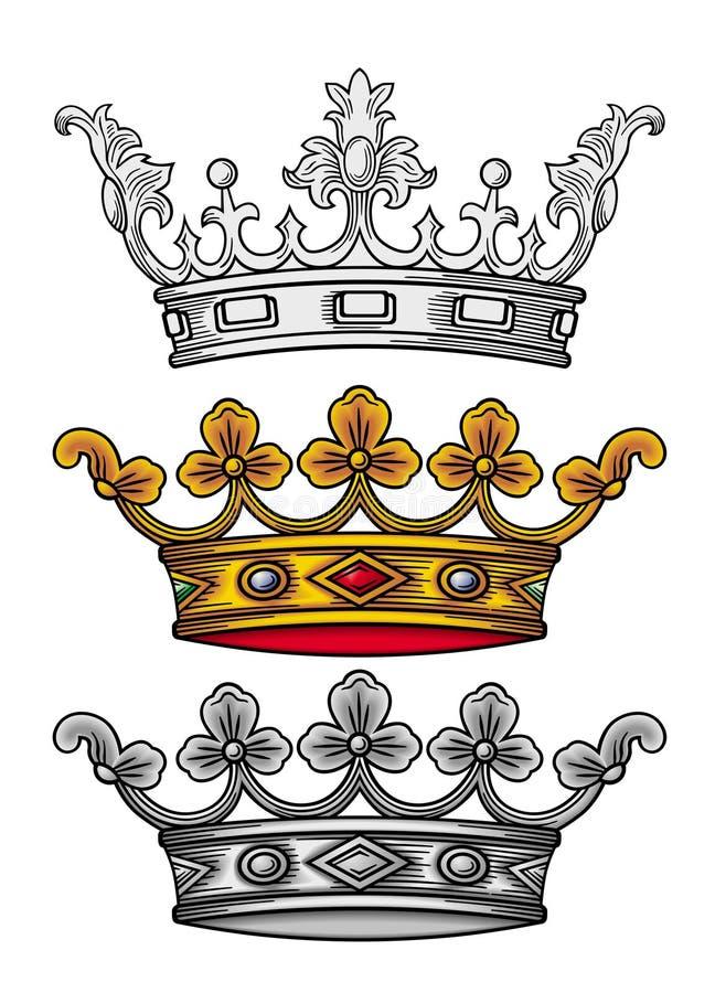 Vetor real da coroa ilustração royalty free