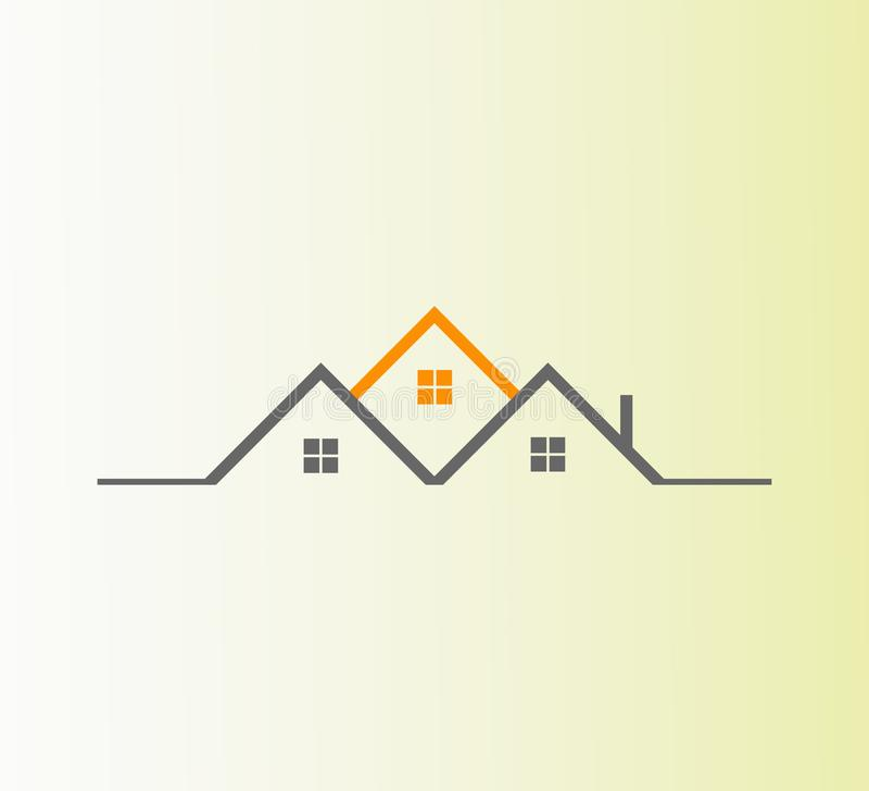 Vetor Real Estate Logo Design O melhor logotipo abstrato do ícone dos bens imobiliários ilustração stock