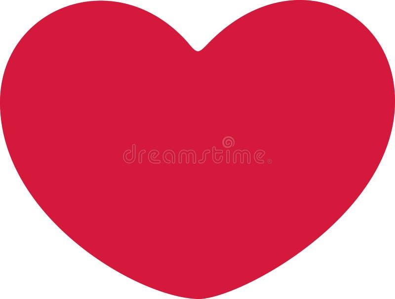 Vetor redondo do coração ilustração royalty free
