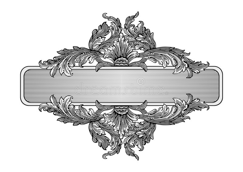Vetor retro do frame ilustração stock