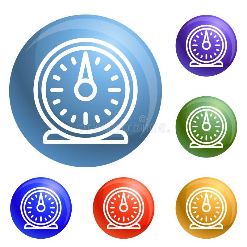 Vetor retro do grupo dos ícones do temporizador da cozinha ilustração stock
