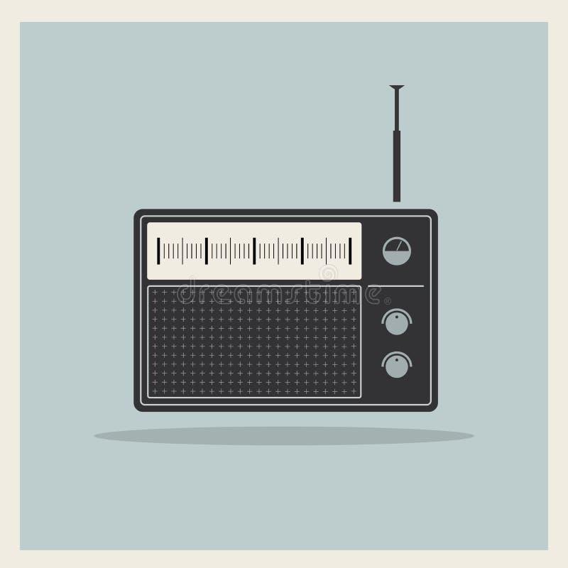 Vetor retro do receptor de rádio ilustração do vetor