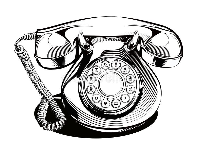 Vetor retro do telefone ilustração royalty free