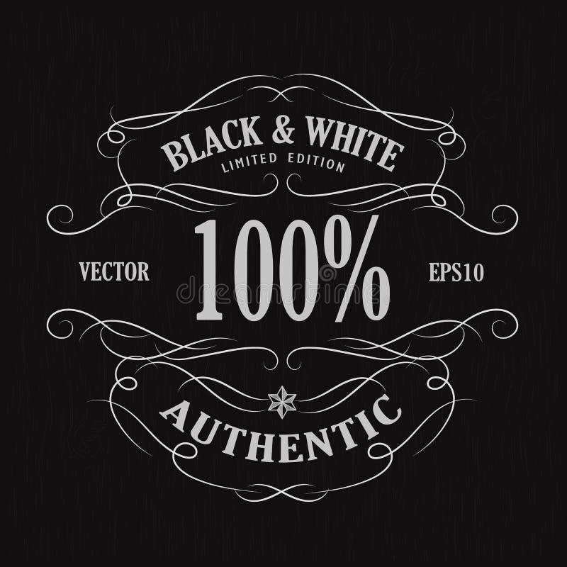 Vetor retro tirado mão do quadro-negro da bandeira do vintage da etiqueta do quadro ilustração stock