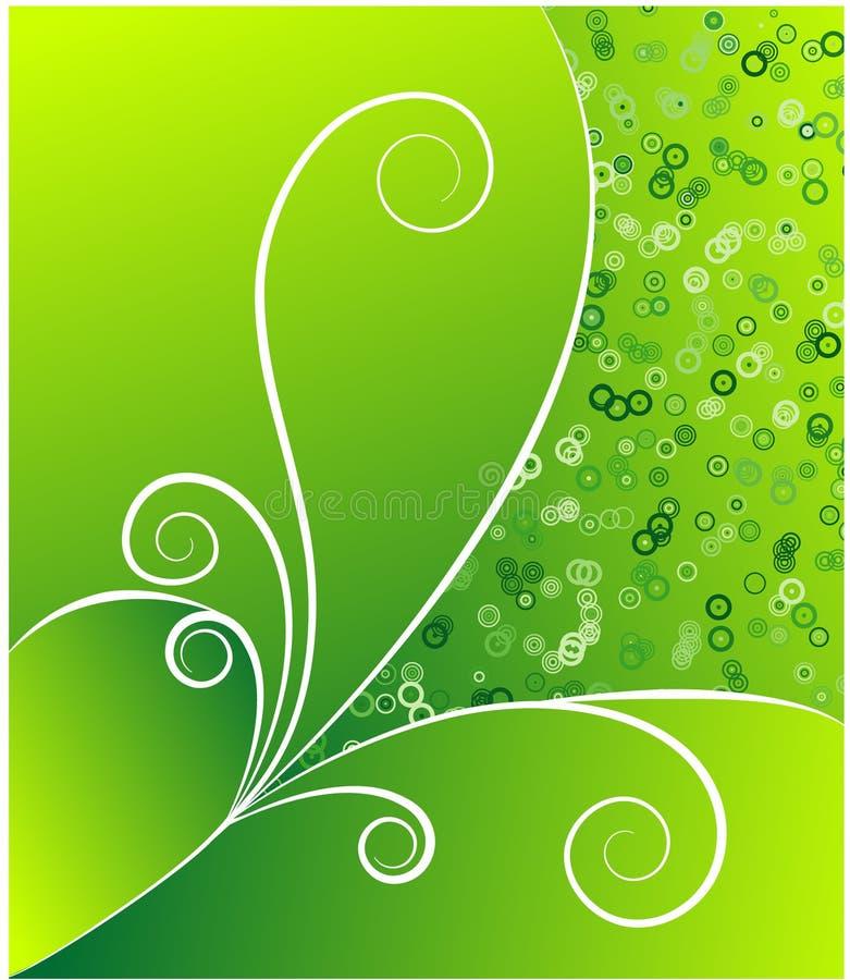 Vetor retro verde do fluxo ilustração royalty free