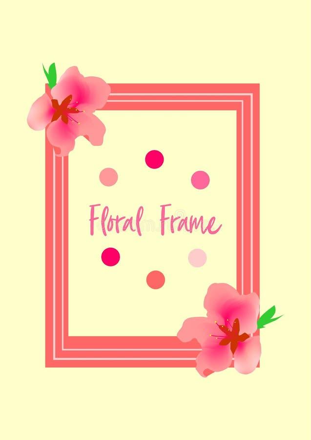 Vetor Sakura Floral Frame fotos de stock