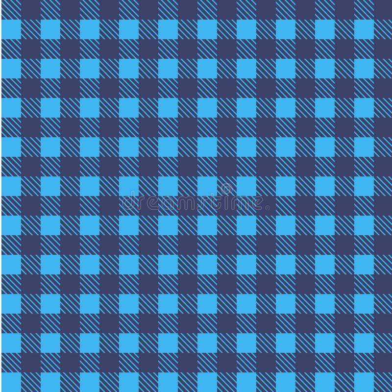 Vetor sem emenda azul da toalha de mesa Cor de Airy Blue e do beira-rio Vetor tradicional sem emenda do teste padrão da toalha de ilustração royalty free