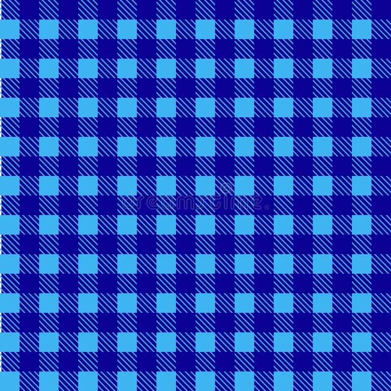 Vetor sem emenda azul da toalha de mesa Cor de Airy Blue e do beira-rio Vetor tradicional sem emenda do teste padrão da toalha de ilustração stock
