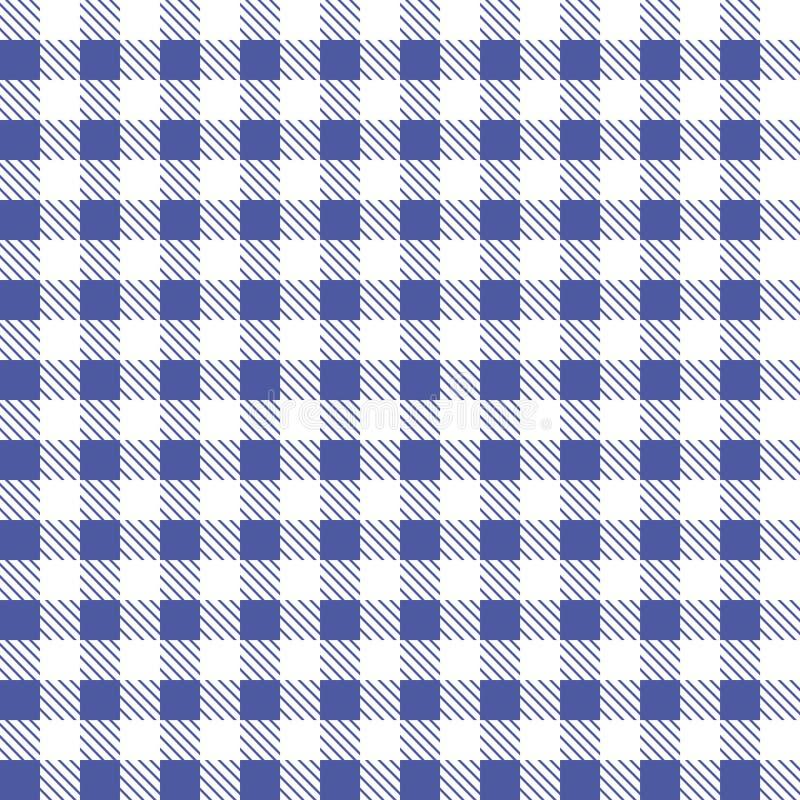 Vetor sem emenda azul e branco da toalha de mesa Cor de Airy Blue e do beira-rio Vetor tradicional sem emenda do teste padrão da  ilustração stock