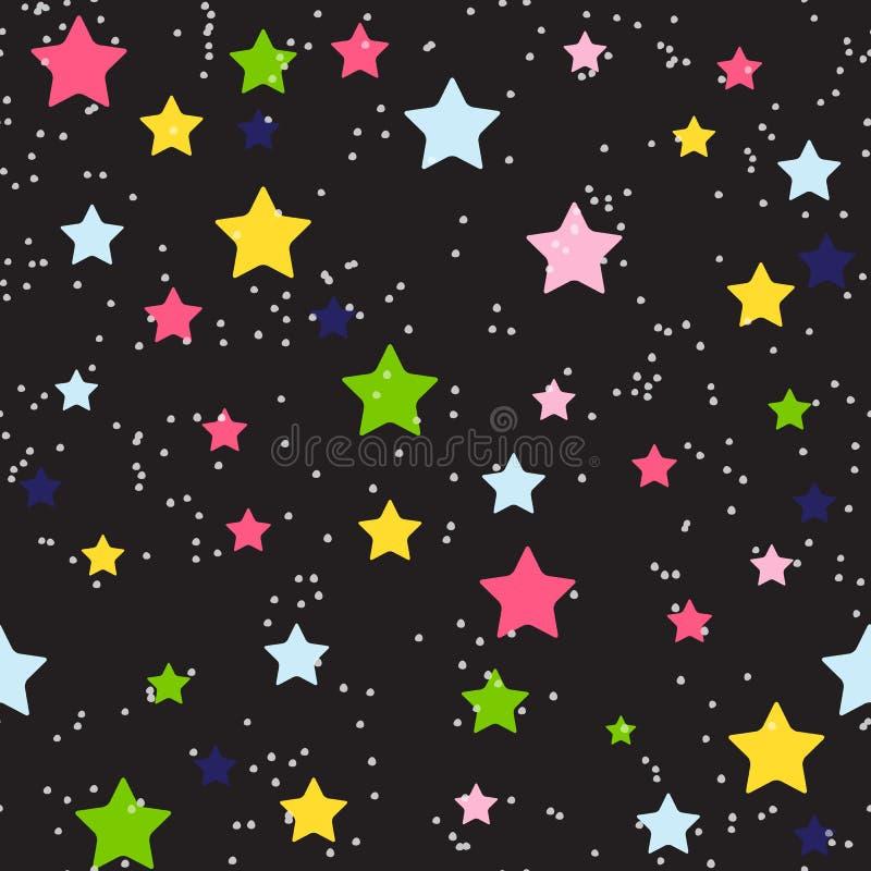 Vetor sem emenda do fundo do teste padrão da estrela bonito ilustração do vetor