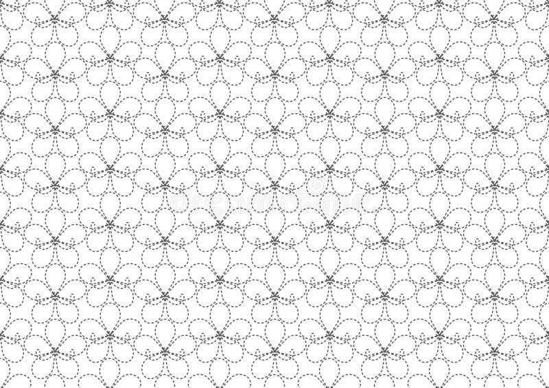 Vetor sem emenda do papel de parede do teste padrão de flor ilustração do vetor