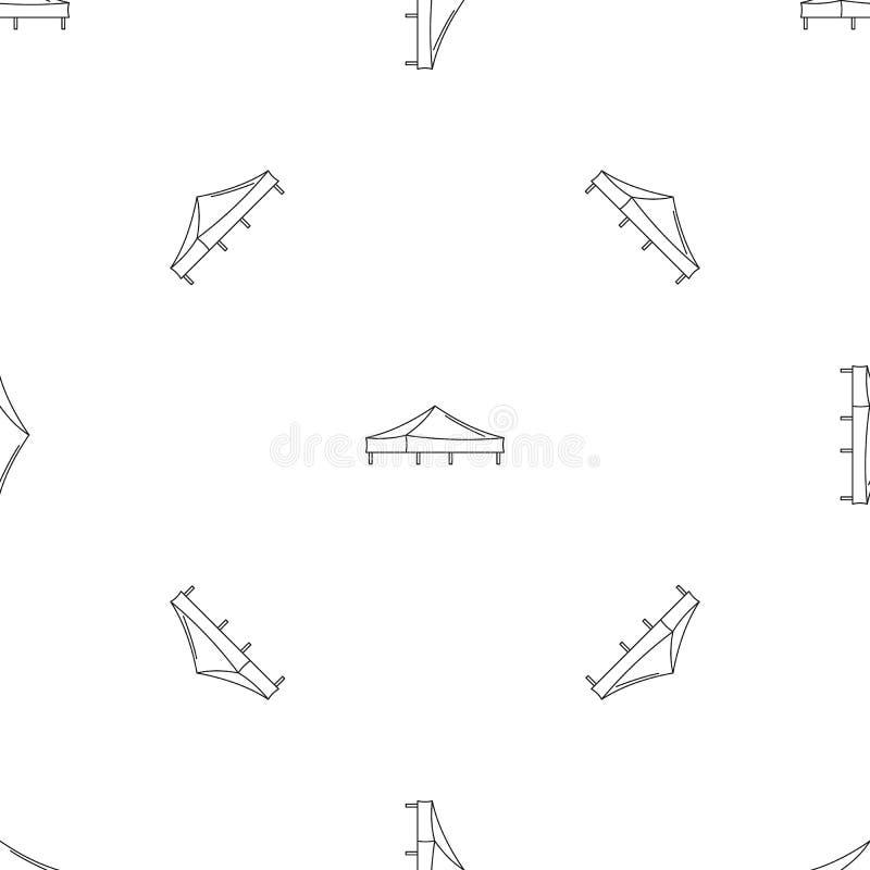 Vetor sem emenda do teste padrão da barraca de Piramide ilustração do vetor