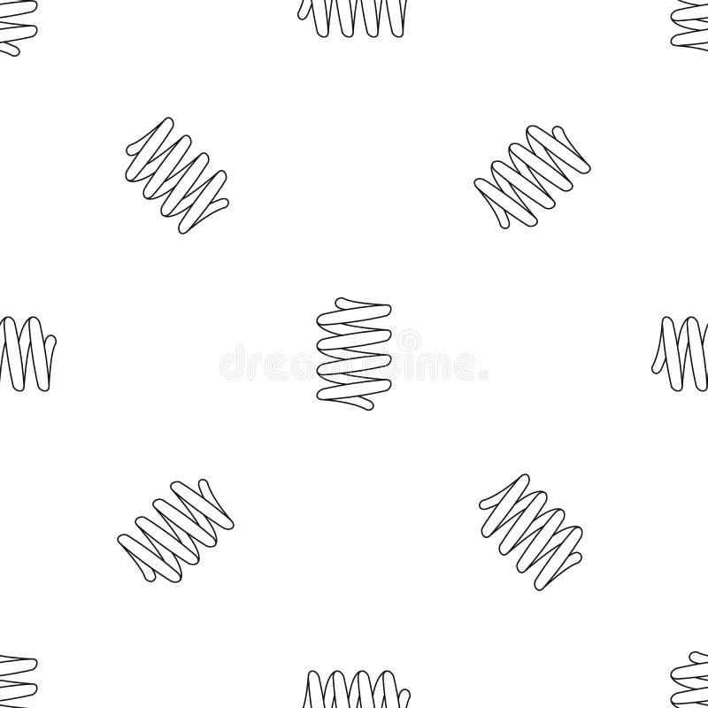 Vetor sem emenda do teste padrão da bobina da mola do carro ilustração stock