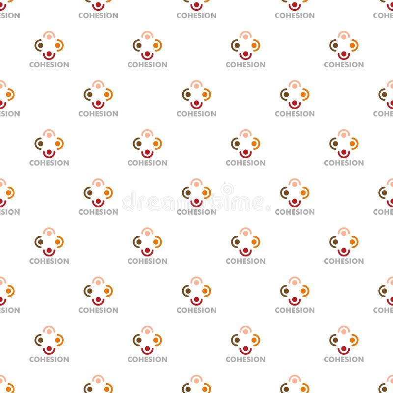 Vetor sem emenda do teste padrão da coesão ilustração royalty free