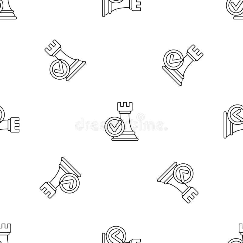 Vetor sem emenda do teste padrão da decisão de lógica ilustração do vetor